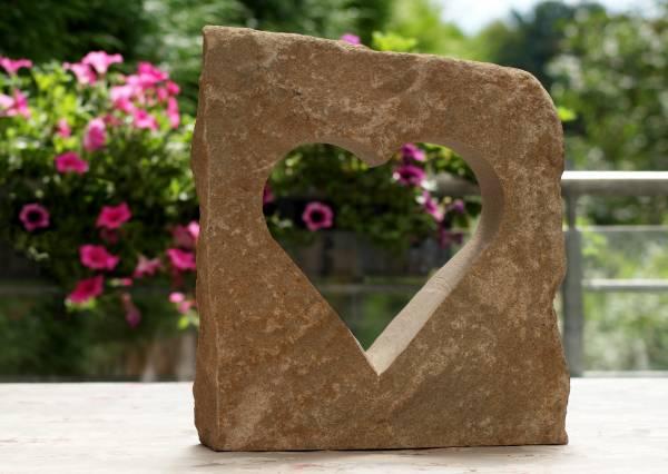Steinherz - Deko für innen und außen