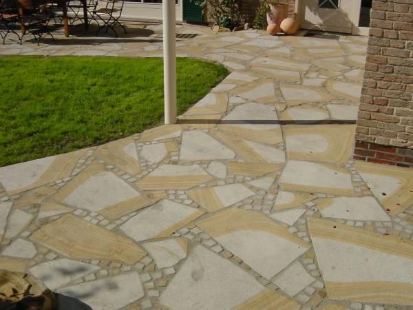 Bodenplatten, polygonal