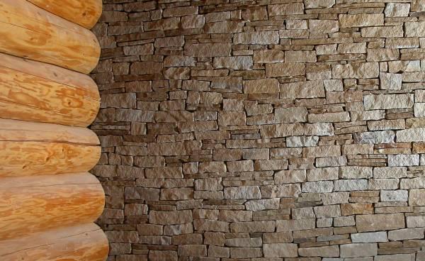 Mauerwerk-Verblender, bruchrau rustikal